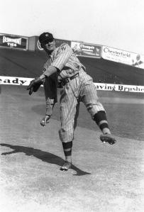 Walter Johnson,veteran pitching ace of the Washington Senators, shown in action on September 26, 1924.(AP Photo)