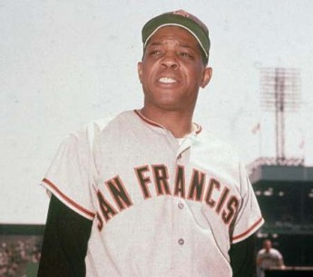 Circa 1958, American baseball player Willie Mays #24 of the San Francisco Giants poses in uniform in a stadium. (Photo by Archive Photos/Getty Images)